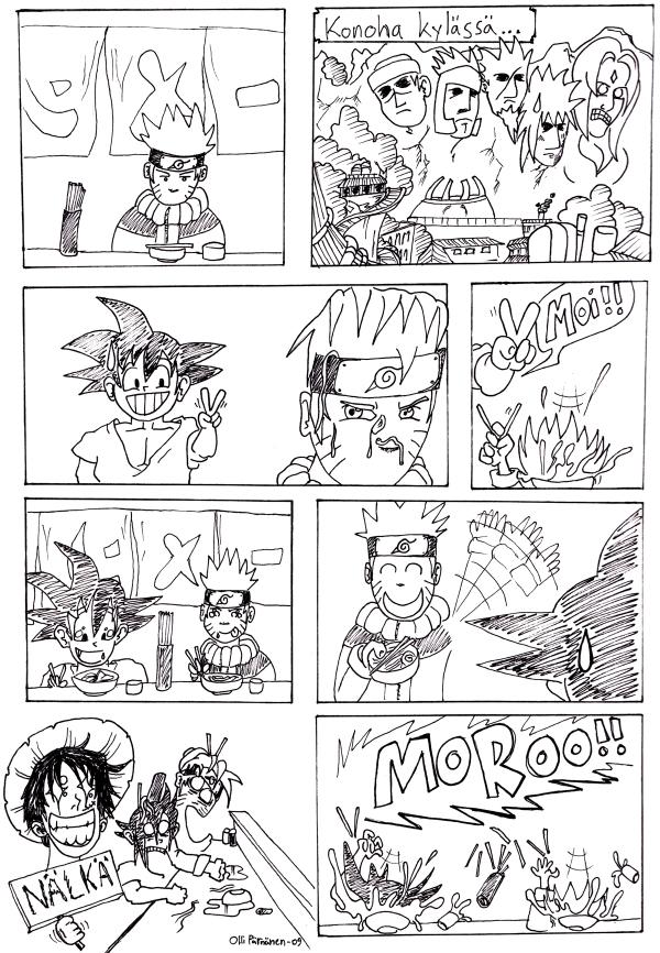 Nintendon järkkäämään manga piirroskisaan osallistuin tällä töherryksellä.